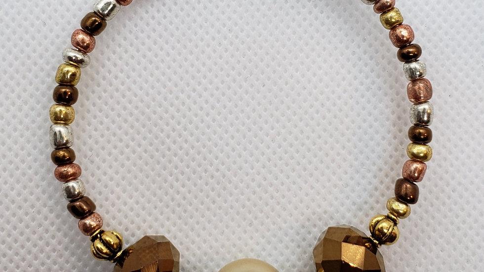 Gold/Copper Memory Wire Bracelet
