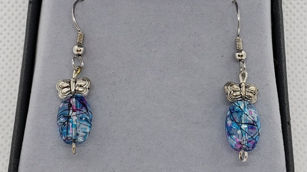 Butterfly and Floral Earrings