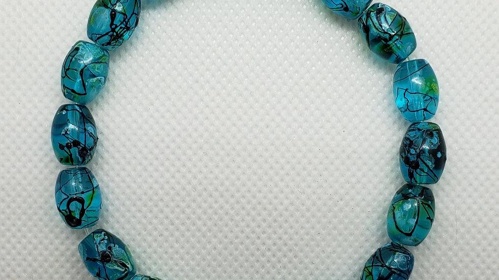 Oval Turquoise Stretch Bracelet