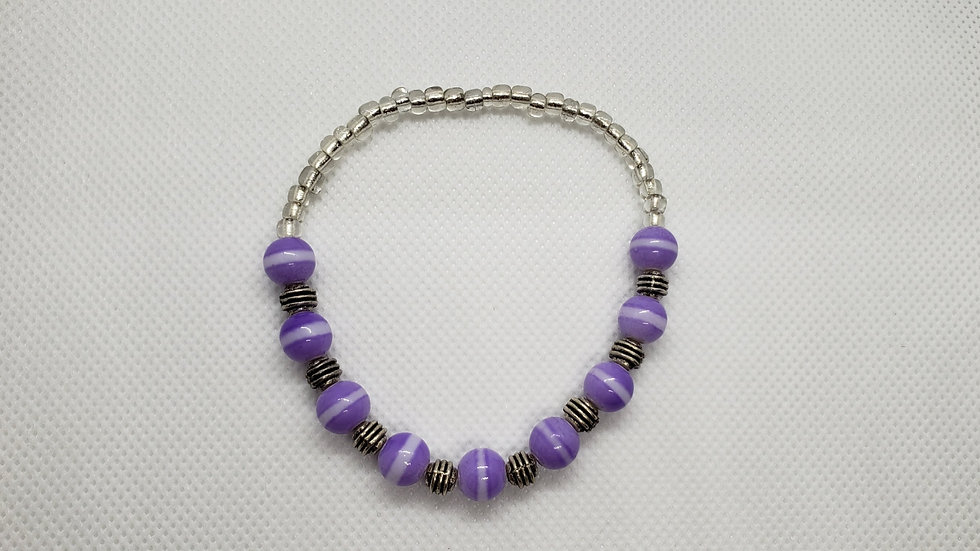 Purple Stretch Bracelet