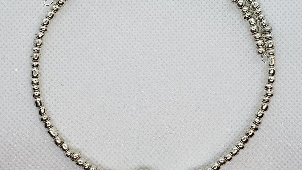 Iridescent Memory Wire Bracelet