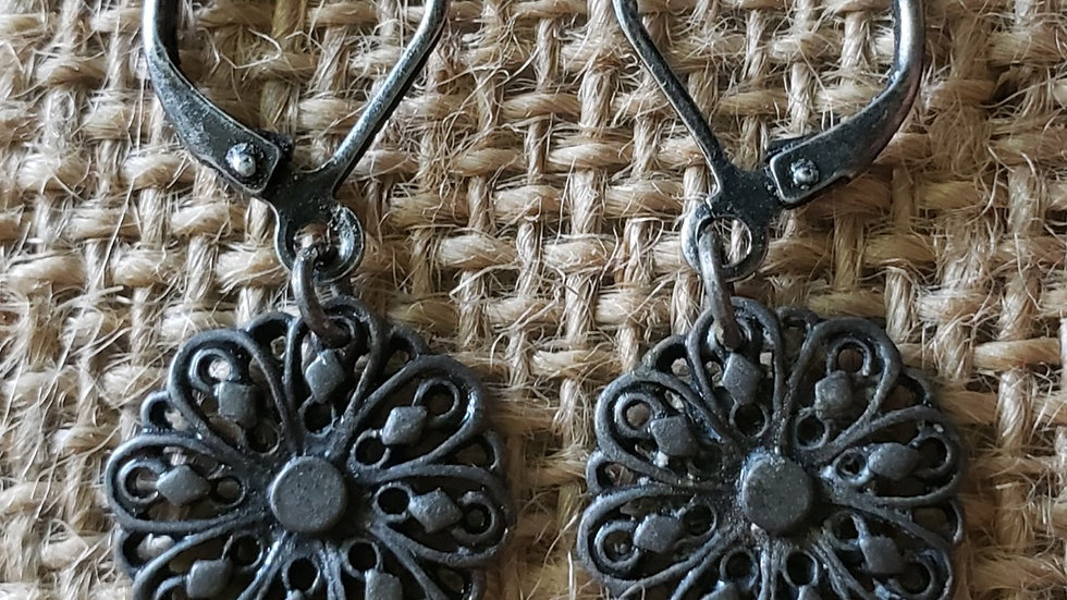 Antique Flower Earrings