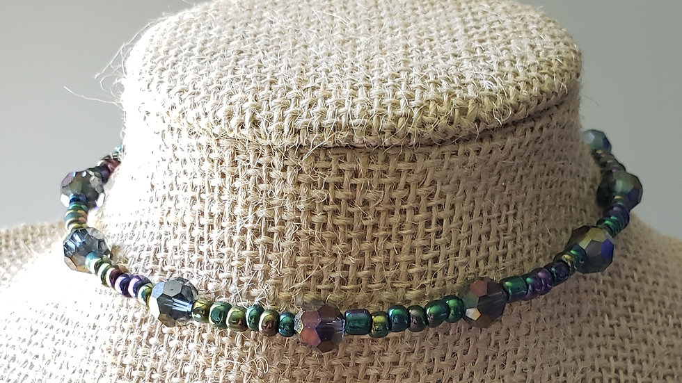 Multi Colored Memory Wire Necklace