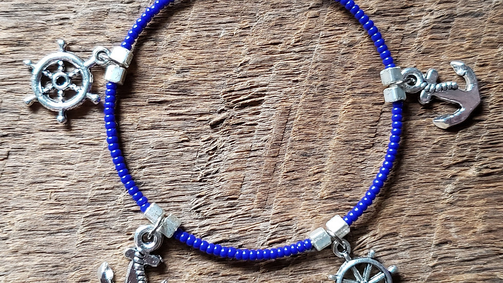 Anchor Memory Wire Bracelet