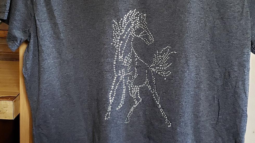 Rhinestone Rearing Horse T-Shirt