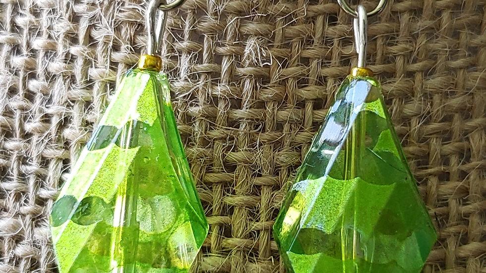 Green/Clear Earrings