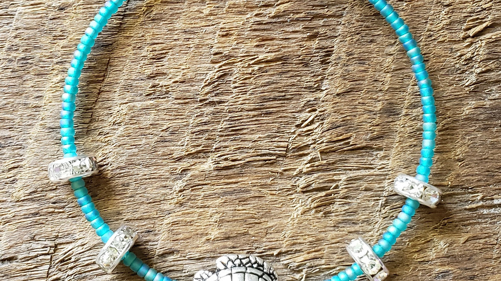 Turtle Memory Wire Bracelet