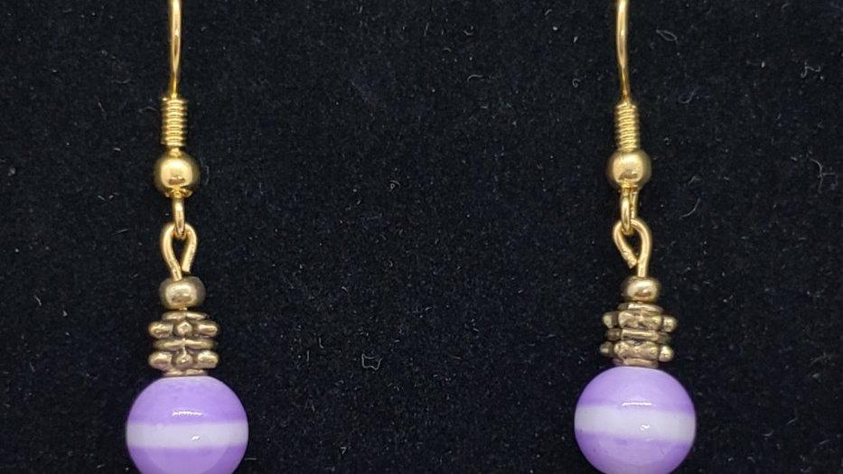 Purple/Gold Earrings