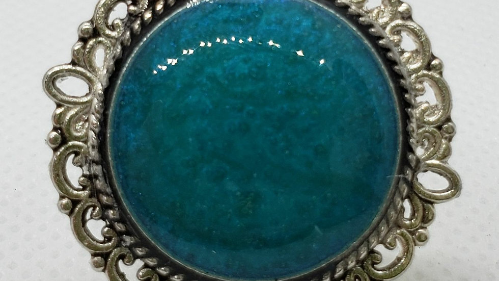 Antique Teal Adjustable Ring