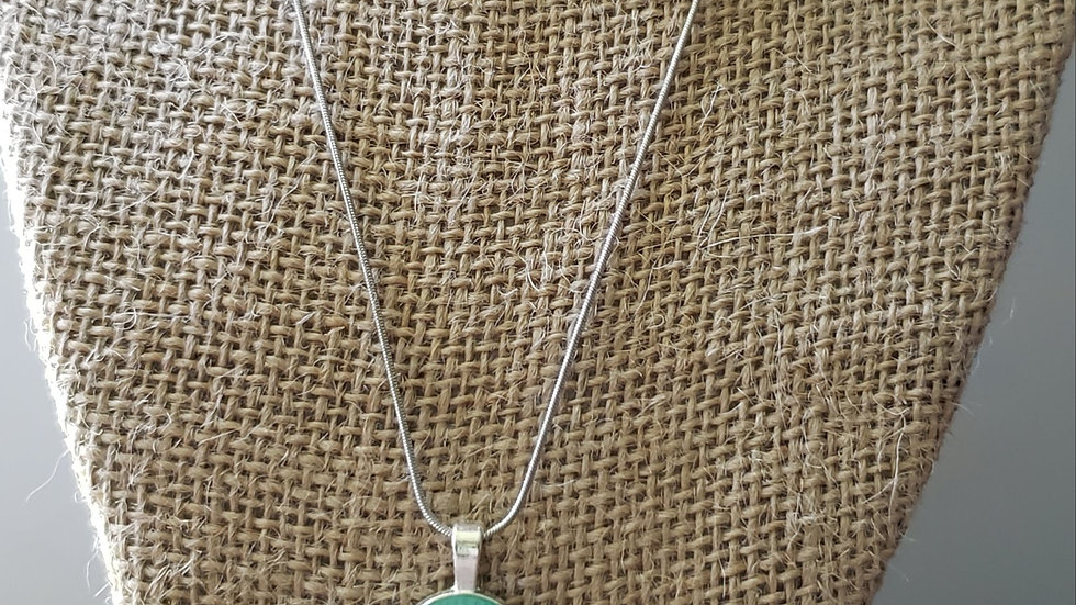 Green/Gold Oval Necklace