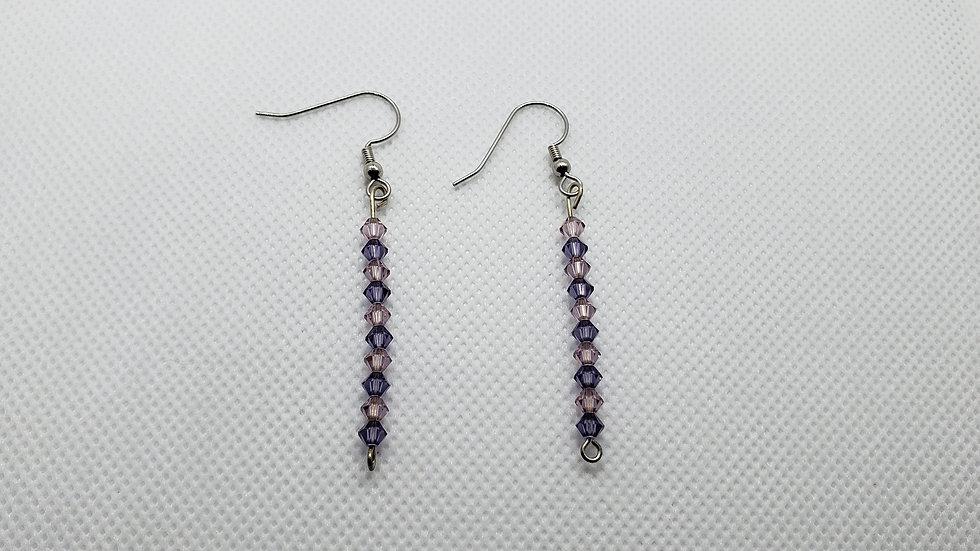 Purple/Pink Long Earrings