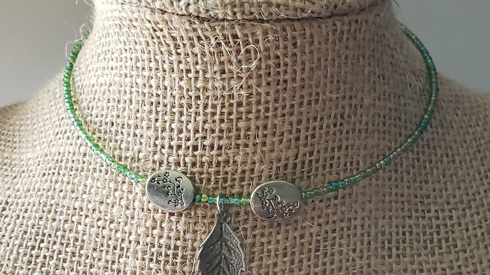 Leaf Memory Wire Necklace