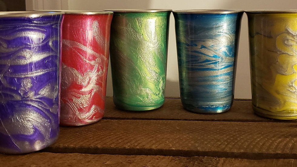 Swirl Stainless Steel Cups
