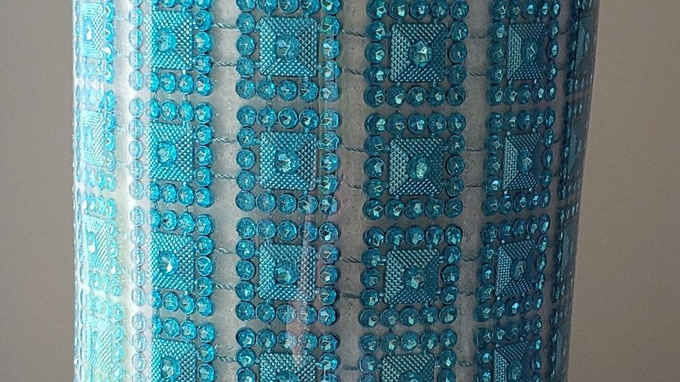 Turquoise Rhinestone Tumbler