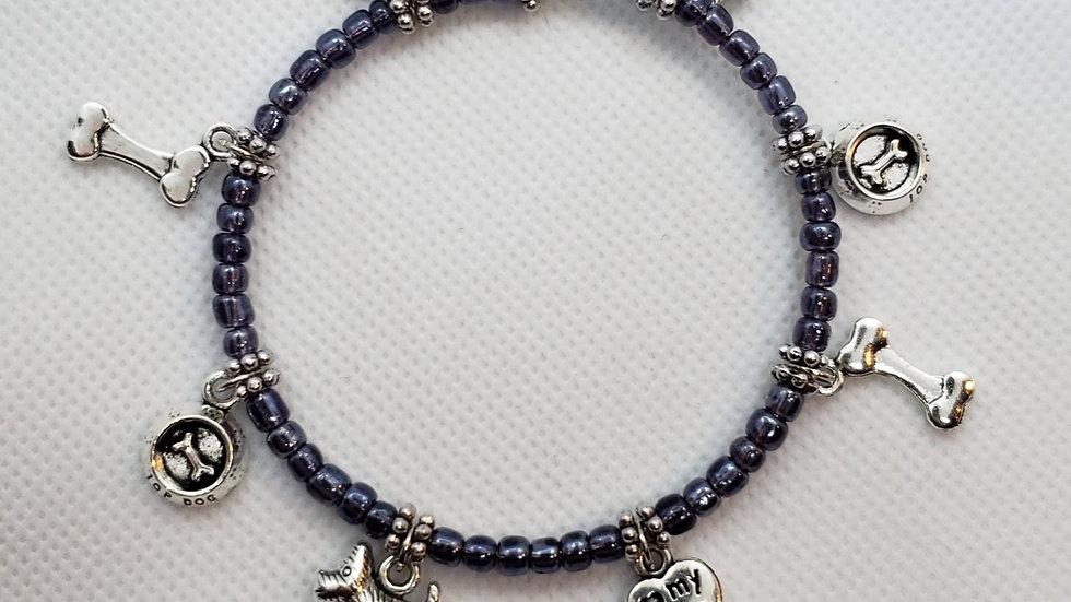 Scottish Terrier Memory Wire Bracelet