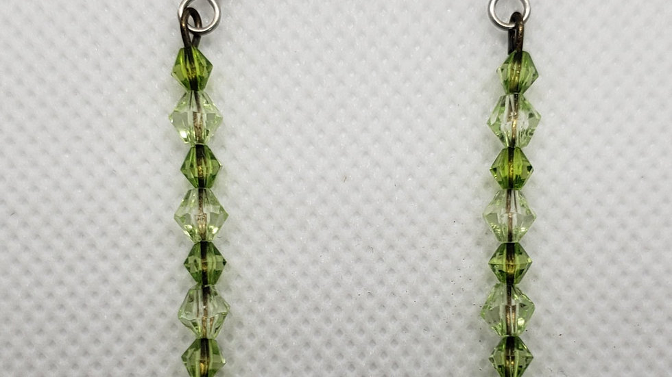 Dark Green/Light Green Earrings