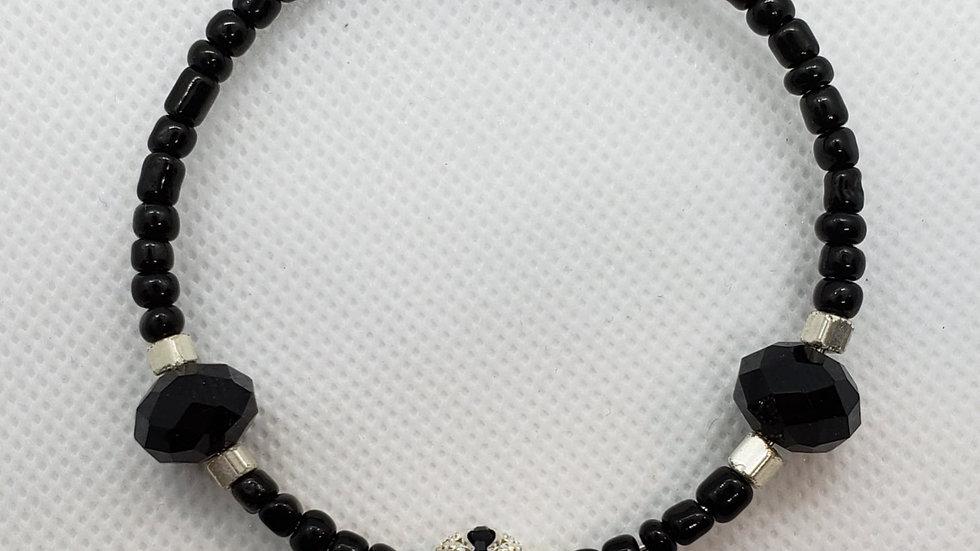 Black/Silver Memory Wire Bracelet