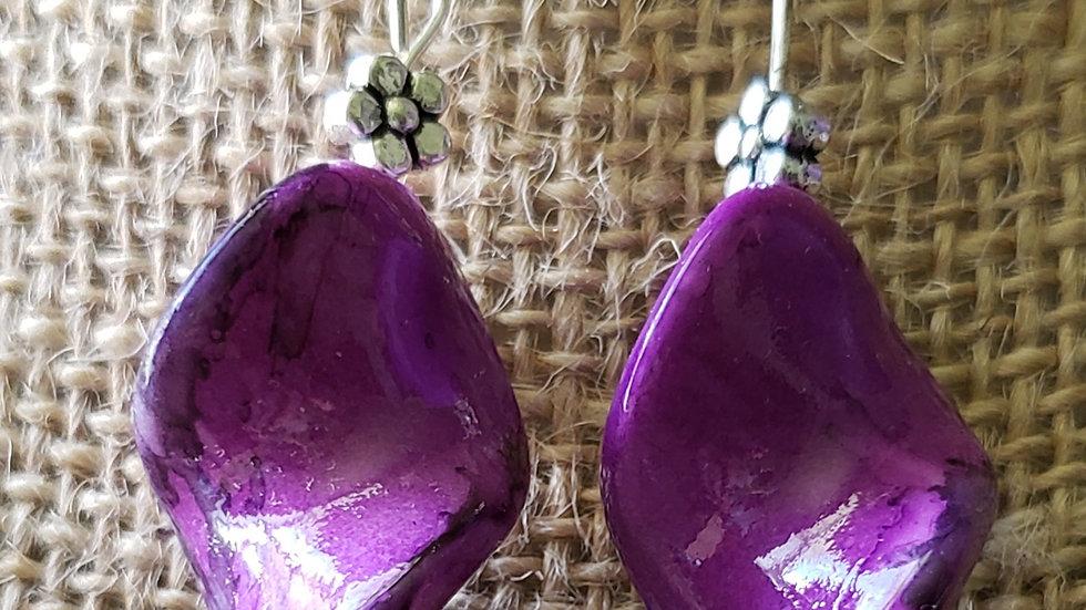 Swirl of Purple Earrings