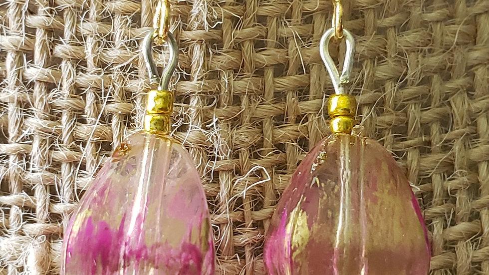 Pink/Gold Earrings