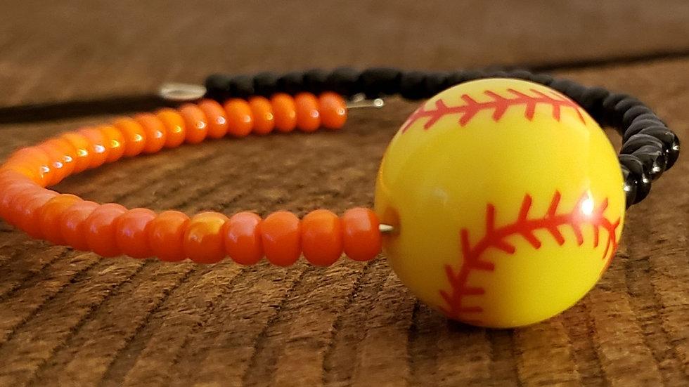 Softball Memory Wire Bracelet