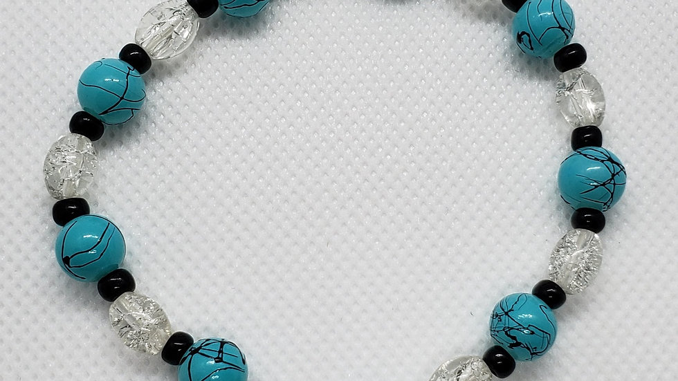 Turquoise Round Stretch Bracelet