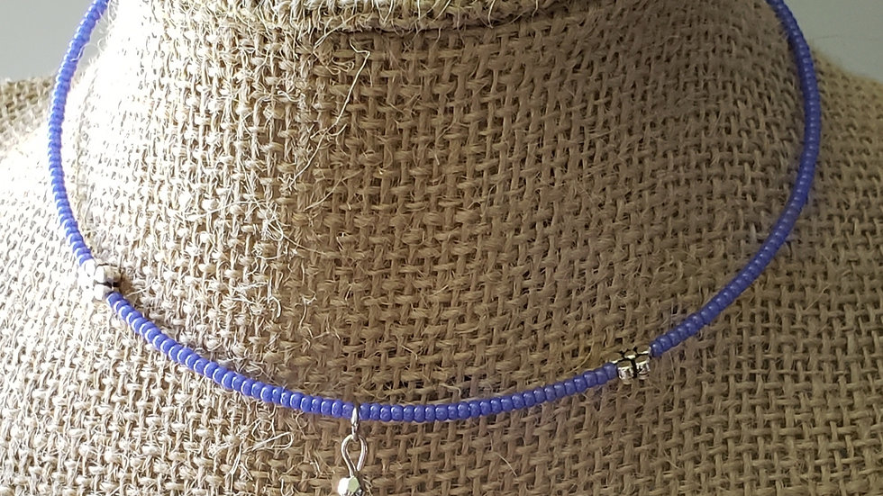 Purple Memory Wire Necklace