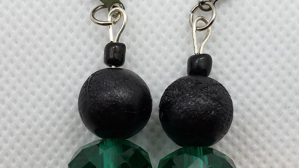 Green/Black Earrings