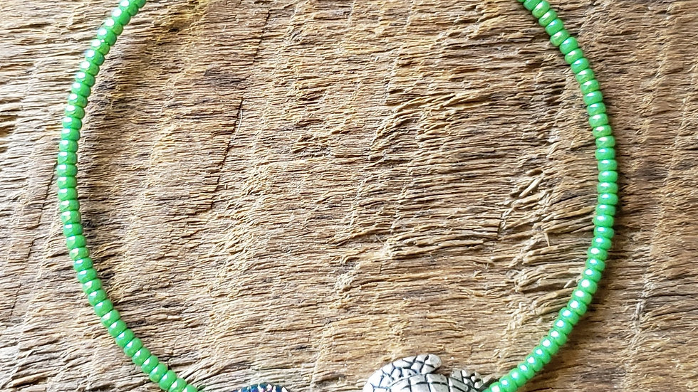 Fish and Turtle Memory Wire Bracelet