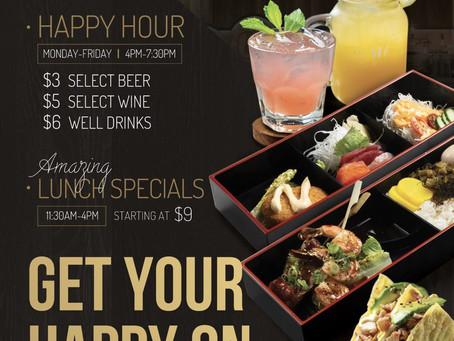 Happy Hour Deals & Lunch Specials