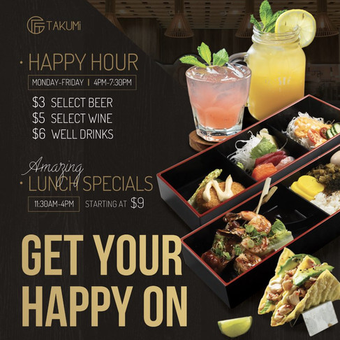 Happy Hour Deals & Lunch Specials