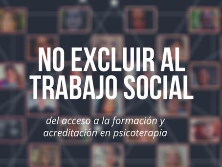 LA FEAP QUIERE EXCLUIR AL TRABAJO SOCIAL DE LA PSICOTERAPIA
