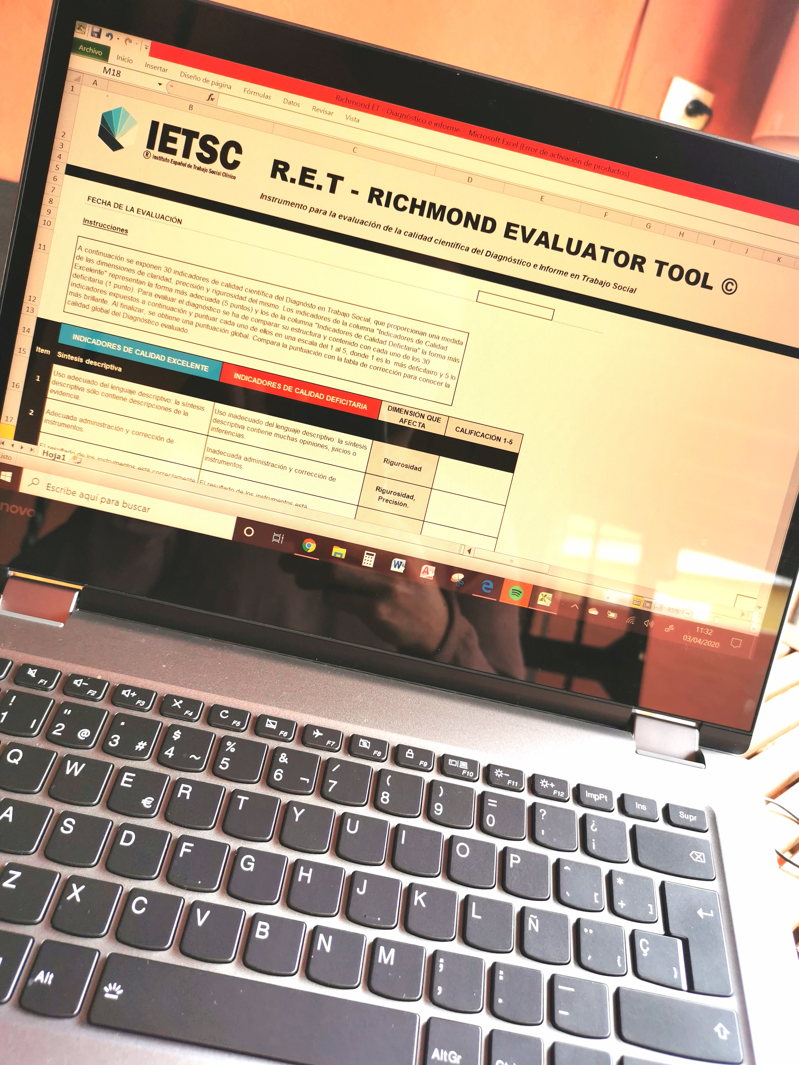 Trabajando en la R.E.T.