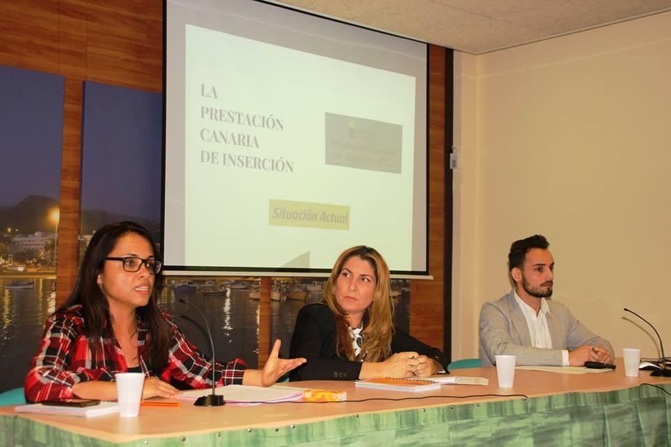 Presentación sobre Prestación Canaria de Inserción, 2017