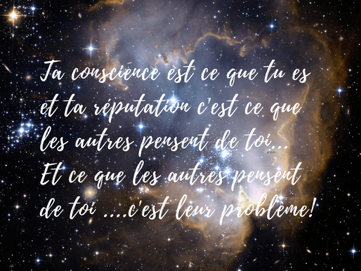 Conscience ou apparence!!