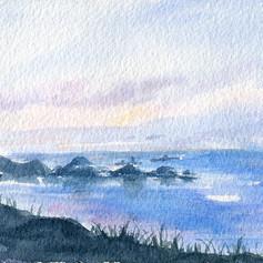 軍艦岩夕照 (sunset on Orchid Island)