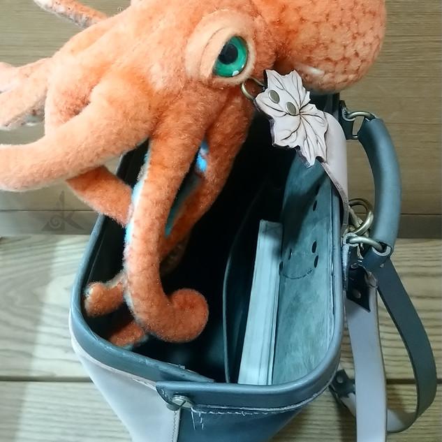Backpack with Farfugium japonicum var. formosanum III