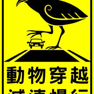 Slow, wildlife crossing