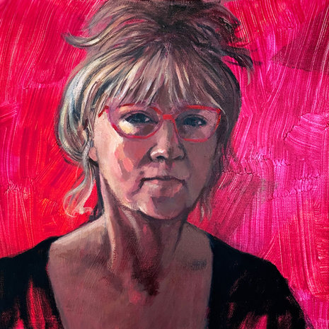 Roz McQuillan 'Self-portrait-in-age-of-Covid'
