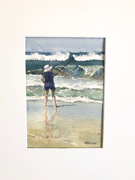 Kath Raulings 'Fishing The Surf'