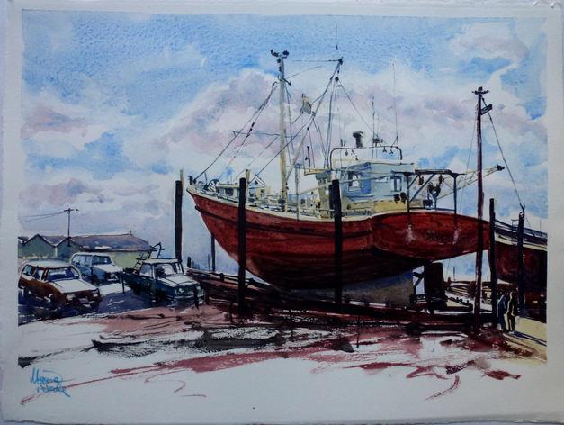 Maxine Wade 'Boat In The Slips'