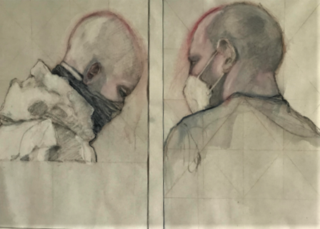 Ron Watkins 'Dialogue October 2020' Diptych Of Our Time