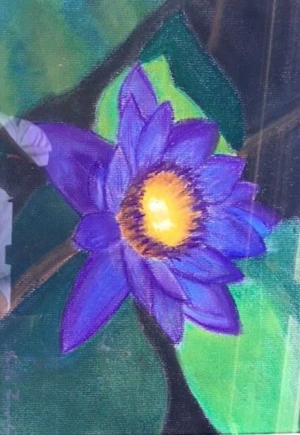 Devika Fernando 'Blue Lotus Flower - Sri Lanka National Flower'
