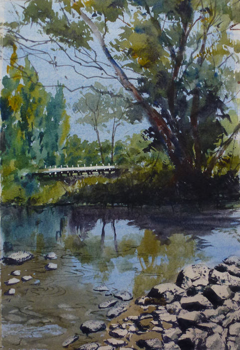 Maxine Wade 'River At Vaughan'