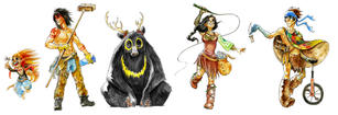Indian Circus Character Designs.jpg