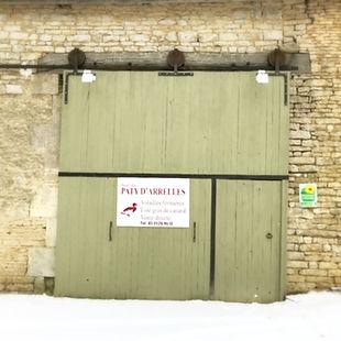 Porte d'accueil du corps de ferme