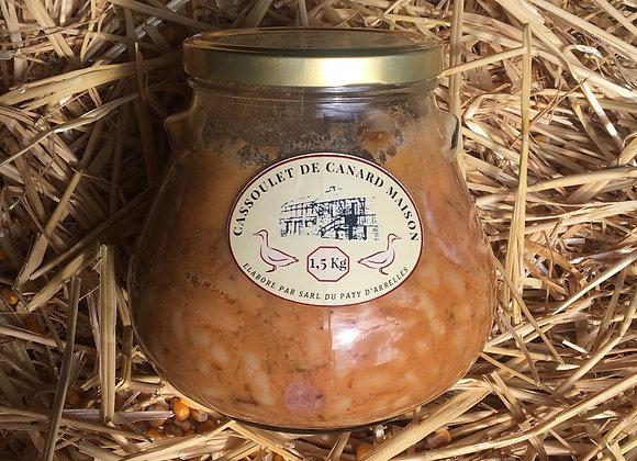 Cassoulet aux manchons de canard en pot de 1,5 kilos