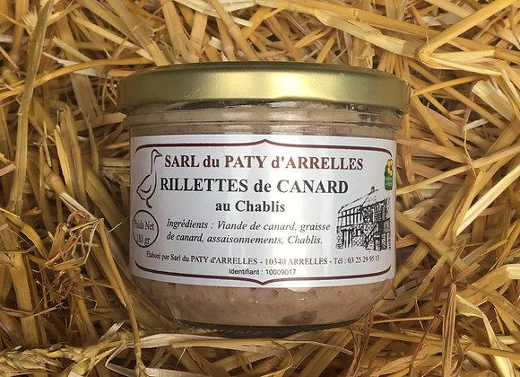 Rillette de canard cuisinée au Chablis en pot de 180 g