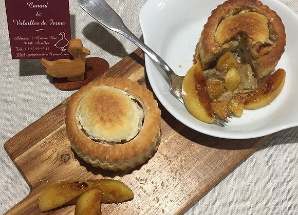 Bouchée foie gras et pomme à la pièce