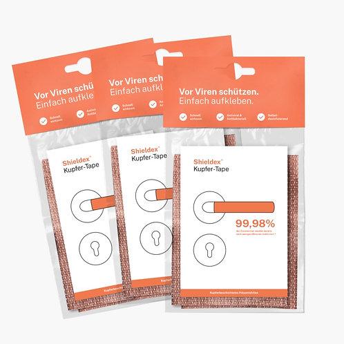 Recubrimiento textil de cobre Shieldex® Copper Tape - Paq. 10 hojas de 8x10 cm