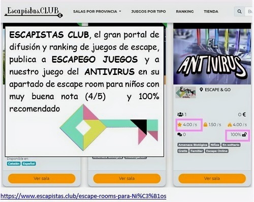 ESCAPISTAS CLUB Y ESCAPEGO